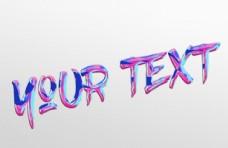 抽象油画文字文本样式