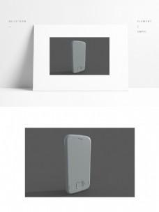 老式滑盖手机单体模型