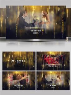 金色婚庆典礼整体展示相册AE模板