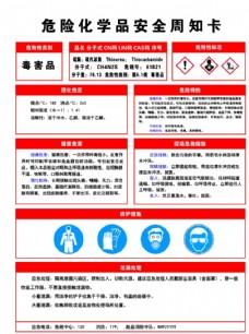 硫脲安全告知牌