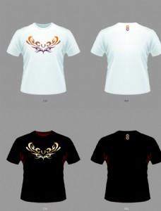 中国风T恤火凝视