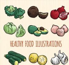 彩绘健康蔬菜水果