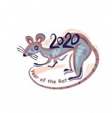 可爱老鼠卡通形象