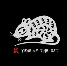 剪纸老鼠形象