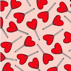 爱心棒棒糖平铺图案