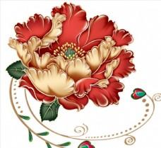 红色牡丹花素材