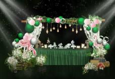 甜品台  绿色